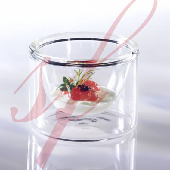 Insulated Glass Mini Cup 1.2 oz. 6/set - $2.65/pc