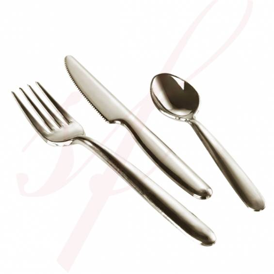 Plastic Fork 7.3 in. Silver - 200/cs - $0.14/pc
