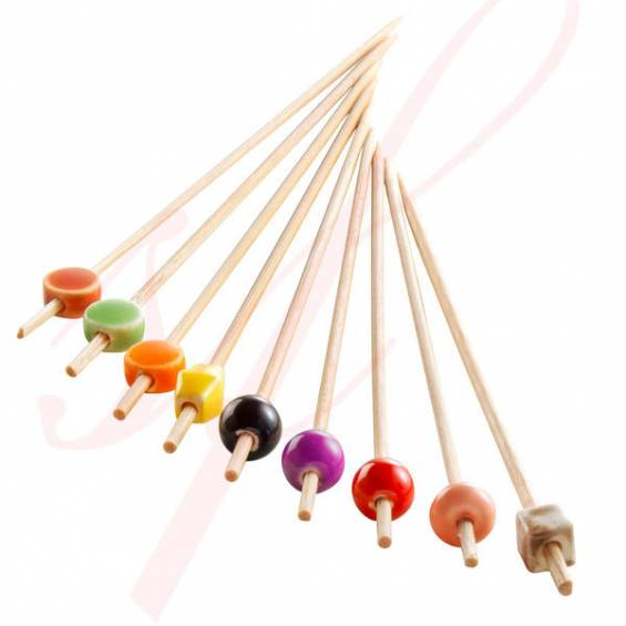 Ceramic Bamboo Skewer 4.7 in. 200/cs - $0.14/pc