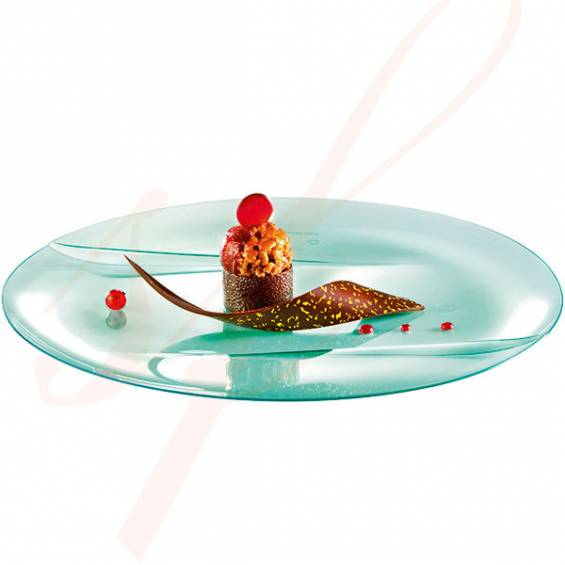 Emerald Premium Dinner Plastic Plate 9.5 in. 50/cs