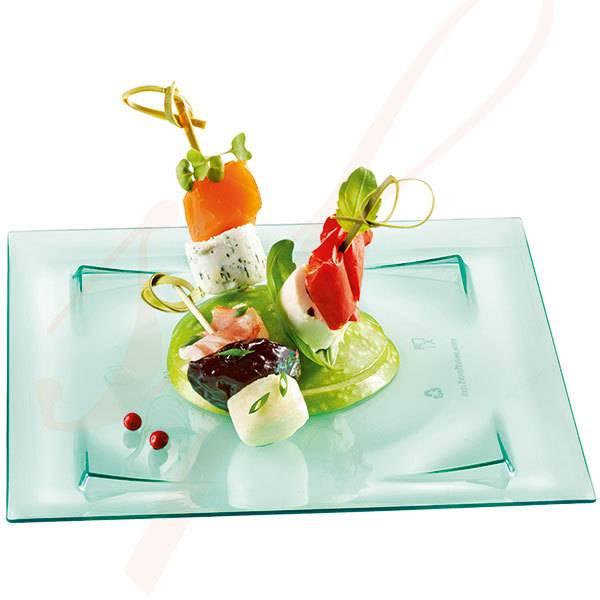 Sapphire Premium Plastic Plate 6 in. 100/cs  sc 1 st  Sweet Flavor & Sapphire Luxury Sea Green Plastic Plate 6 in. - Sweet Flavor