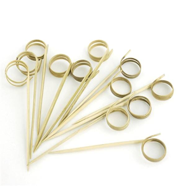 Loop Bamboo Skewer 3.5 in. 200/cs - $0.07/pc
