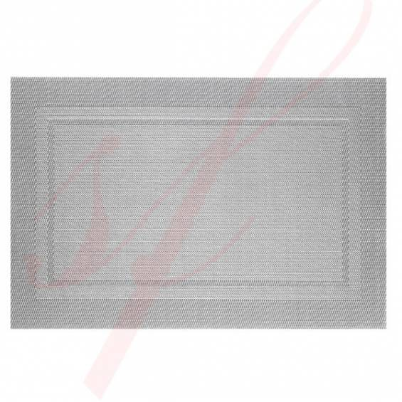 Grey Classic Woven Placemats - 12/cs