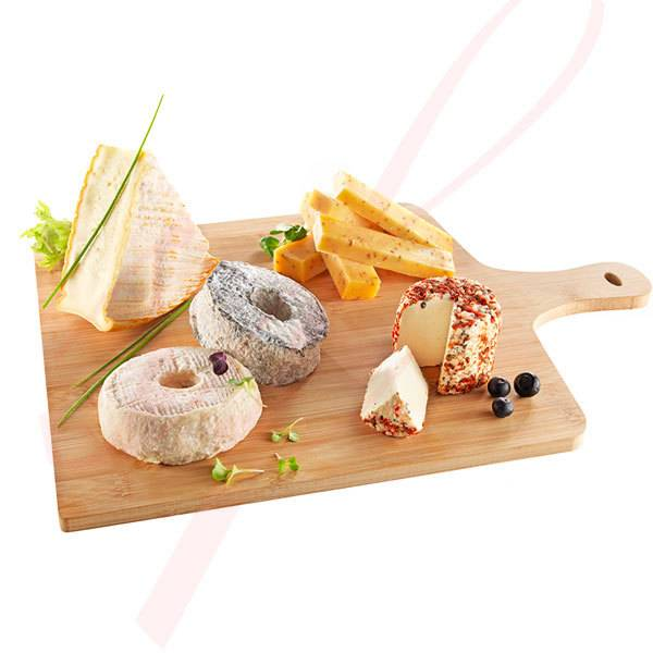 Bamboo Reusable Serving Board 15.7 in. x 11.8 in. 10/set