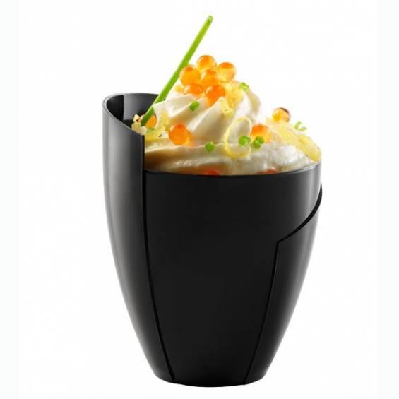 Kalei Design Mini Plastic Cup 5 oz. Black - 100/cs