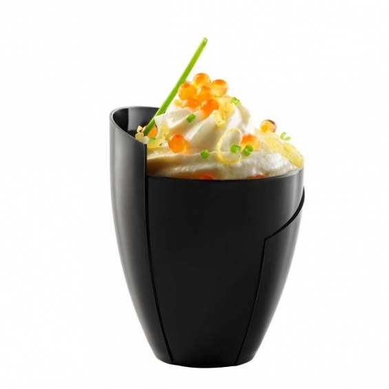Kalei Design Mini Plastic Cup 2 oz. Black - 200/cs