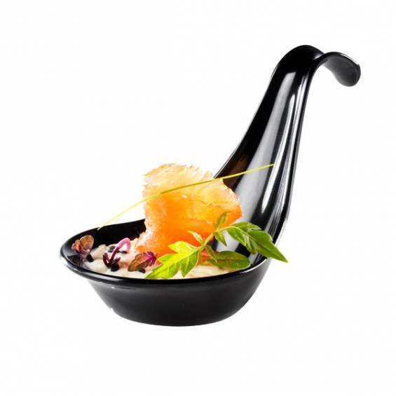 Gourmet Plastic Spoon Black - 200/cs - $0.24/pc