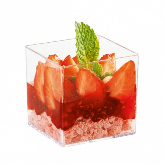 Mini Plastic Cube 2 oz. 200/cs - $0.29/pc