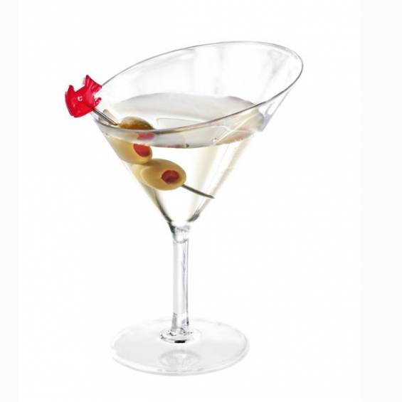 Mini Plastic Martini Glass 3 oz. 100/cs - $0.55/pc