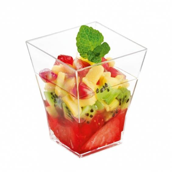 Geometric Mini Plastic Cup 2 oz. 200/cs - $0.24/pc