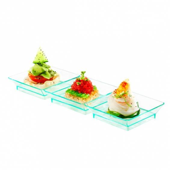 Trio Mini Plastic Plate 7 in. 200/cs - $0.69/pc