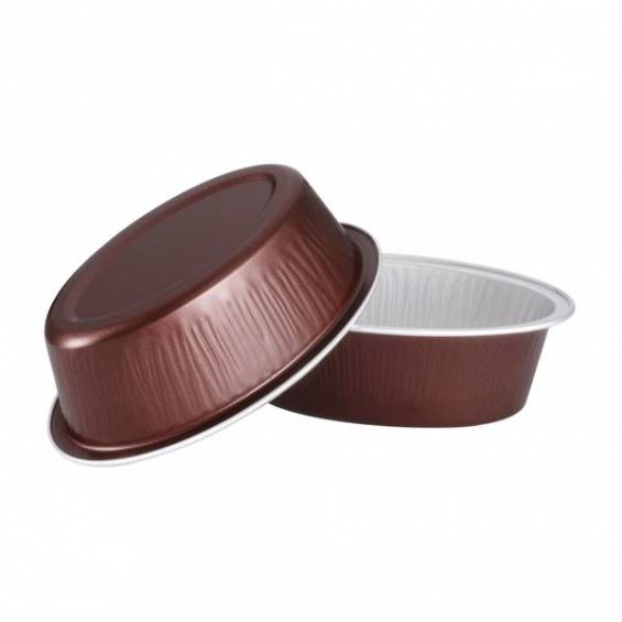 Aluminium Foil Mini Oval Baking Cup 3 oz. 100/CS - $0.28/piece.