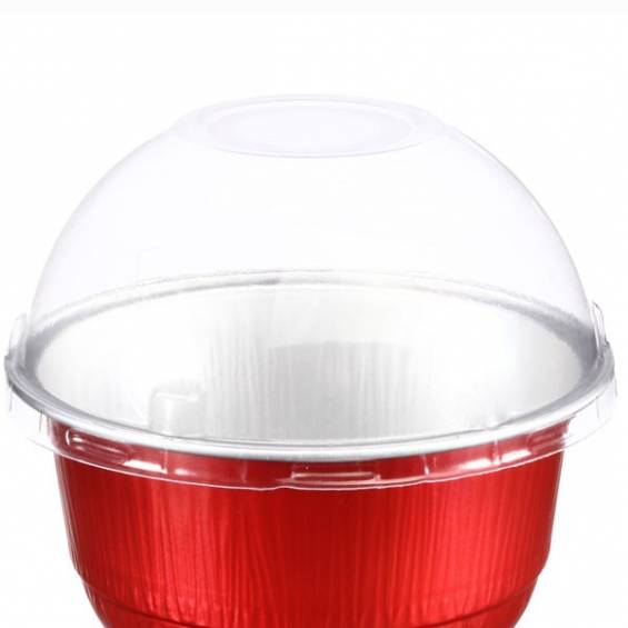 Dome Lid for Aluminium Foil Baking Bowl 5 oz. 100/CS - $0.09/piece.