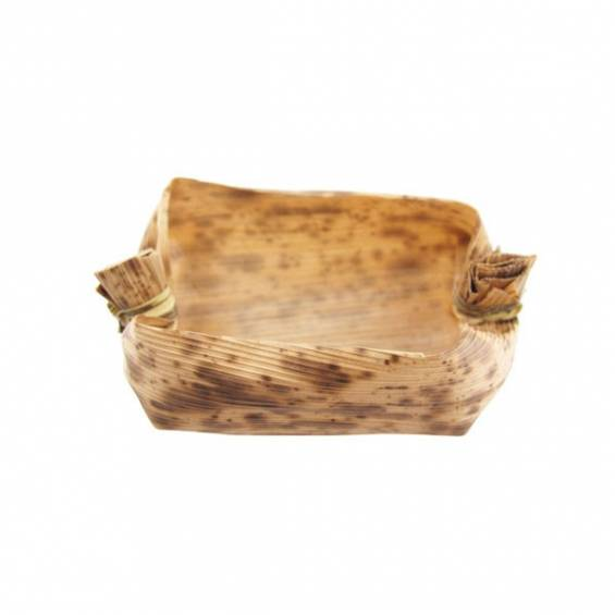 Oval Bamboo Dish 2.7 in. 100/cs - $0.19/pc