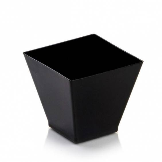 Kita Black Mini Dessert Plastic Cup 2 oz. 400/cs - $0.19/pc