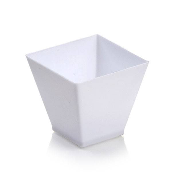 Kita White Mini Dessert Plastic Cup 2 oz. 400/cs - $0.19/pc