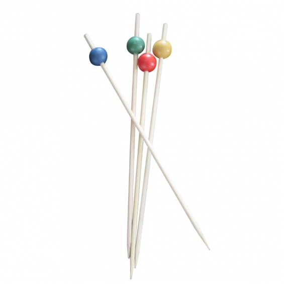 Red Ball Bamboo Skewer 5.9 in. 1000/cs - $0.03/pc