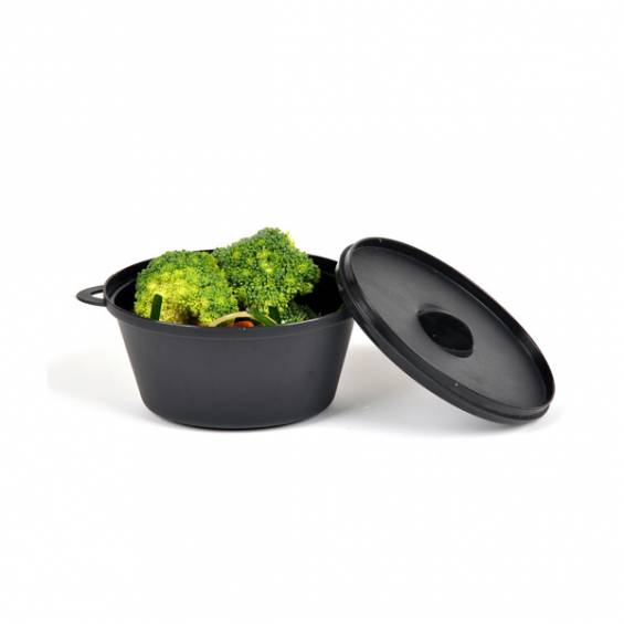2 oz. Mini Plastic Cooking Pot - 20/cs - $0.6/pc