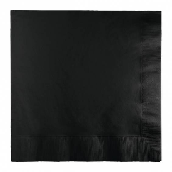 Black Luncheon Paper Napkin - 50/cs