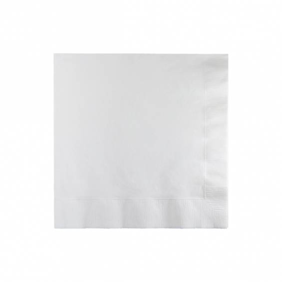 White Beverage Paper Napkin - 50/cs